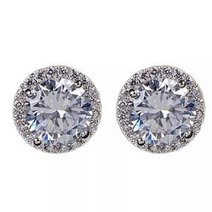 Swarovski Crystal Diamond Stud Earrings